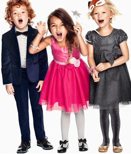 H&M Kids store screenshot