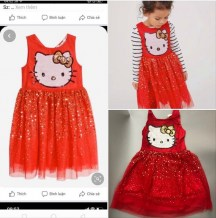 dam_mau_do_hm_hello_kitty